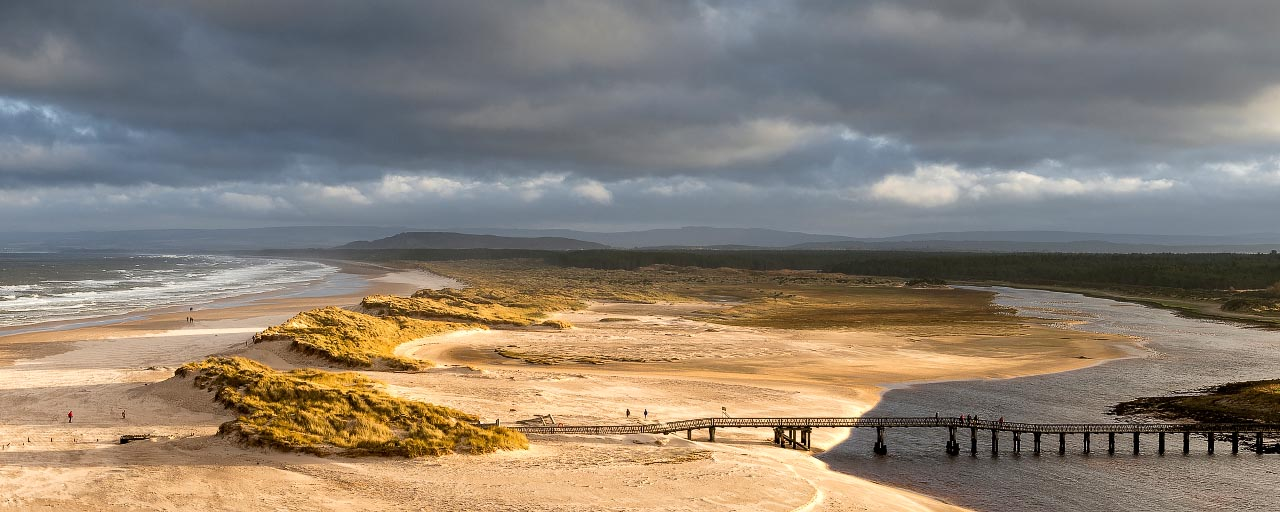 Low Sun On East Beach Lossiemouth (Pano)