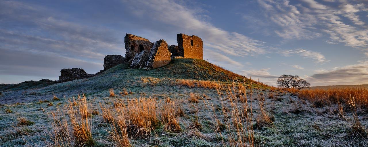 Winter Light - Duffus Castle (Pano. Version)