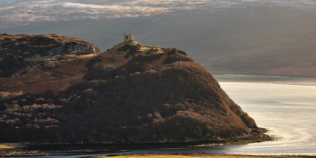 Evening Light On Castle Varrich - No 1