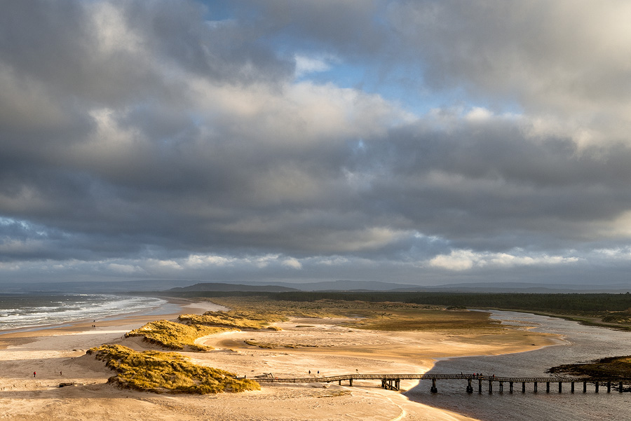 Low Sun on East Beach Lossiemouth