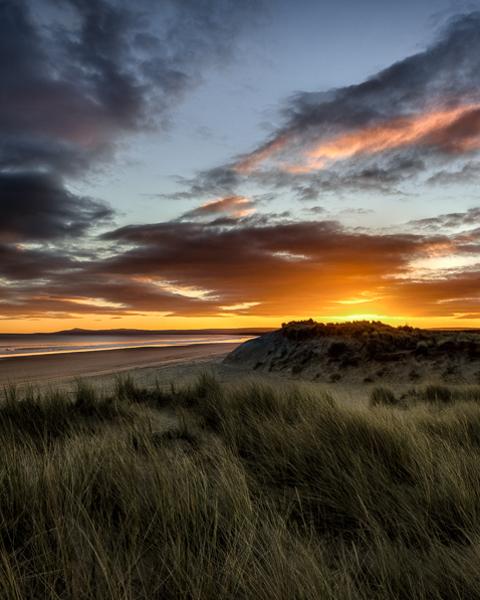 Sunrise On Dunes